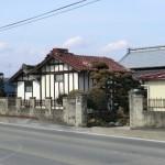 民家の棟瓦の損傷